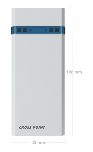 Wireless Nexus Counter with dimensions - Cross Point